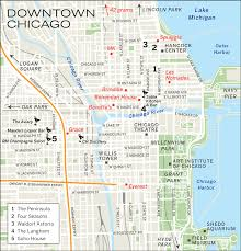 Chicago By Zip Code Map by Michigan Avenue Map Chicago Michigan Map