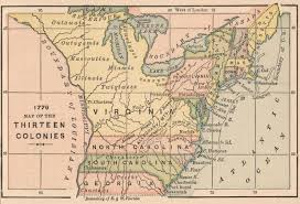 Colonial America 1776 Map by Amazon Com Map Poster 1776 Map Of The Thirteen Colonies 24