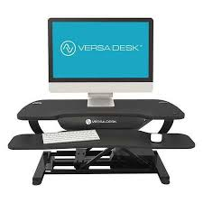 versa stand up desk versa products electric adj standup table 36 w blk top vt7643624
