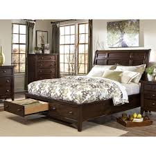Solid Wood Sleigh Bed Jackson Solid Wood Storage Sleigh Bed Free Shipping Today