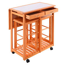 kitchen island furniture rolling kitchen island trolley cart with 2 stools kitchen