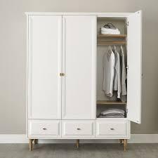 Victorian Armoire Wardrobe Bedroom Furniture Wooden Classic Wardrobe Cabinet Vintage