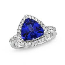 tanzanite engagement ring trillion cut tanzanite ring with diamonds tanzaniteone the