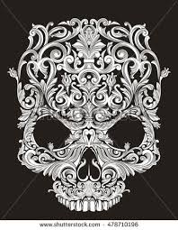 skull ornament stock images royalty free images vectors