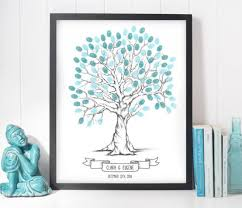 tree signing for wedding finger print tree wedding guest book alternative wedding tree