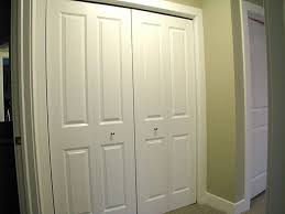bedroom white painted pine closet door with colonial panel style