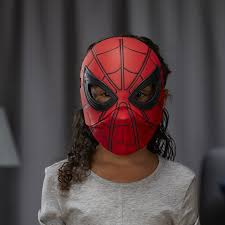 spirit halloween spiderman spider man homecoming flip up mask one size amazon co uk toys