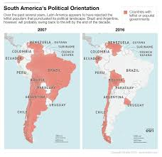 Latin And South America Map by The Resilience Of The Left In Latin America Stratfor Worldview