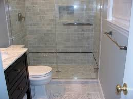 fascinating small shower room with grey tile wall and white toilet
