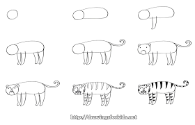 how to draw a tiger for drawingsforkids