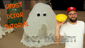 how to make a halloween cheesecloth ghost with nick thune diy