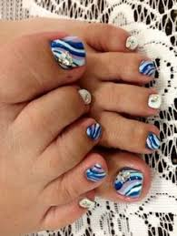 rock cute nail art designs on pedicures for your summer sandal