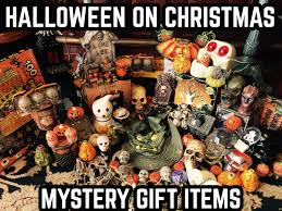 Haunted Halloween Gift by Halloween On Xmas Holiday Mystery Gift Box With Signed Print Tote