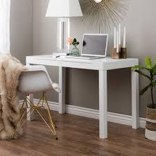 White Parsons Desk Small Parsons Coffee Table Mini Desk West Elm Regarding Modern