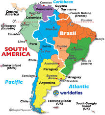 a map of south america south america zones map
