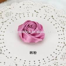 bulk satin ribbon handmade satin ribbon fabric flowers brooch silk flowers bulk
