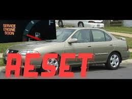 service engine soon light nissan sentra how to reset service engine soon light on a 2000 nissan sentra