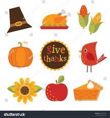 thanksgiving email message set cute colorful design elements autumn stock vector 243547423