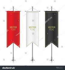 Hanging American Flag Vertically Set Vector Banner Flag Templates Hanging Stock Vector 554743642