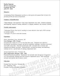 Resume Objective Examples Retail by Sales Representative Resume Objective Ilivearticles Info
