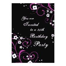 floral 35th birthday party invitations zazzle 35th birthday