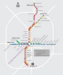 Atlanta International Airport Map by Public Transportation Mercedes Benz Stadium