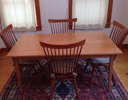 Shaker Dining Room Furniture Handmade Shaker Cherry Dining Table Custom Made In Vermont