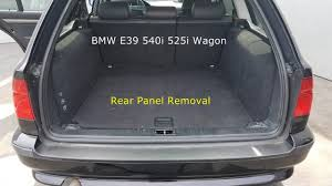 bmw e39 rear rear panel cover removal bmw e39 540i 528i 525i wagon touring