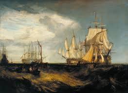 spithead two captured danish ships entering portsmouth harbour