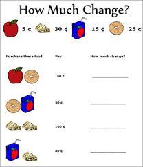 change worksheets math pinterest worksheets money