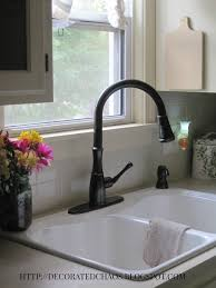 faucet sink kitchen decorated chaos new pfister faucet in tuscan bronze and white cast