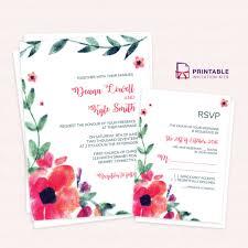 Death Anniversary Invitation Card Free Pdf Printable Invitation And Rsvp Black And White Floral