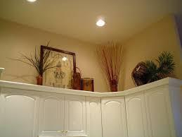 Above Kitchen Cabinet Decor Ideas Decorating Above Kitchen Cabinets Before Pictureunique Ways To