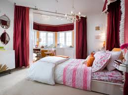 burgundy curtain for young women bedroom decorating ideas with