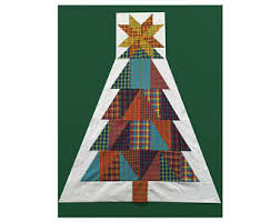 christmas tree quilt etsy