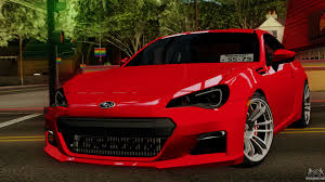red subaru brz subaru brz 2010 for gta san andreas