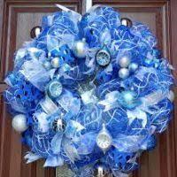 blue silver decorations decore
