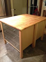 ikea kitchen island hack two varde 3 drawer cabinets back to back