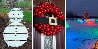 outdoor decorations easy and cheap diy outdoor christmas decoration ideas