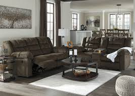 Reclining Sofa And Loveseat by American Furniture Galleries Mort Umber Reclining Sofa And