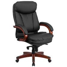Wooden Executive Office Chairs Articles With Cherry Wood And Leather Office Chair Tag Wood And