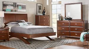 Platform Sleigh Bed Belcourt Cherry 5 Pc King Platform Bedroom With Sleigh Headboard
