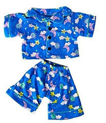 clothes for build a days blue pj s teddy clothes fits most