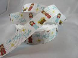 oh holy night ribbon merry christmas jesus nativity christmas