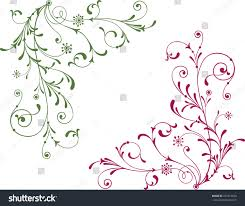ornamental twigs stock vector 223714630