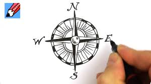 how to draw a compass design