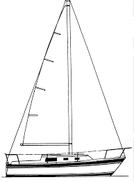 drawn sailing boat sailor boat pencil and in color drawn sailing