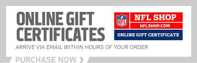 online gift certificates nfl gift cards and certificates nflshop