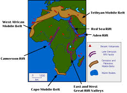 africa map great rift valley the tectonic history of africa