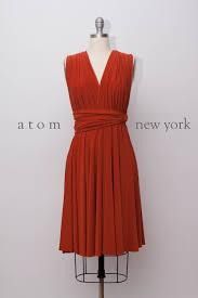rust burnt orange short infinity dress convertible formal